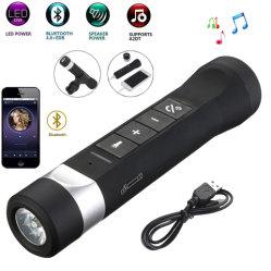 LEDの懐中電燈USBの充電器力バンク2000mAhのトーチの自転車のBluetoothの1つの携帯用スピーカーに付き5つ