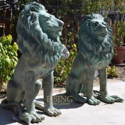 Для использования вне помещений латуни меди на заводе Металлический ручной работы бронзовая скульптура льва