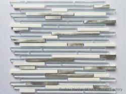 High-end современный дизайн деревенском керамические плитки тонкие статьи длина Super белого стекла мраморной мозаикой линии, мозаика плитка, стеклянной мозаики Gys-1072