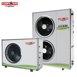مضخة حرارة مصدر هواء المحرك أحادي الكتلة ذات محول التيار المستمر R32 مع ERP وحدة تحكم تبريد وتدفئة A++++ 9 كيلو واط إلى 20 كيلو واط