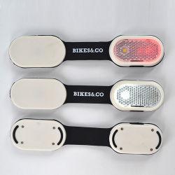 Mão Livre Mini abraçadeira no pano de saco Hat luz de LED piscando até que reflectem a luz, luz magnética com o logotipo personalizado Imprimir