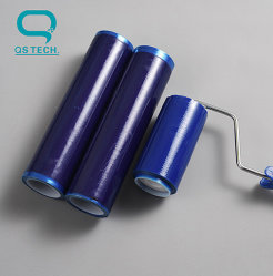 Ferramenta de limpeza do pó do rolo de cola com cola adesiva forte cor azul