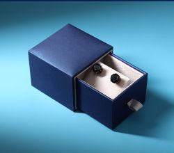 Низкая MOQ ящик плату голубого цвета бумаги украшения упаковки с бархатным вставить