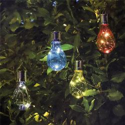 На солнечной энергии энергосберегающая лампа освещения висящих светодиодный светильник с помощью прибора Clip управление освещением IP44 Water-Resistant открытый волшебная фонари для рождественских праздников группа сад
