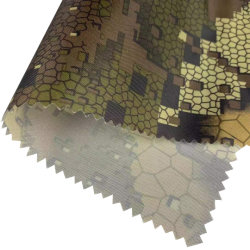 Oxford 150d*150d PU Wr1000 85gramos de tejido impermeable de impresión tejido tejido Camoufalge caza 100%poliéster tejido Oxford