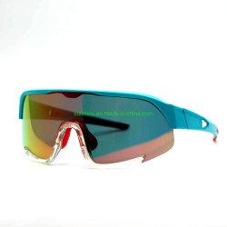 804e01 Hot Selling Western Fitting Erwachsene Sonnenbrille UV-Schutz One Piece PC-Objektiv Sport-Schutzbrille für Männer & Frauen