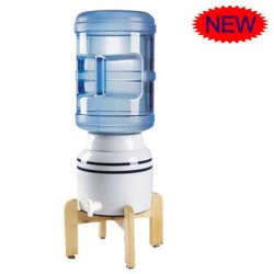 موزع ماء خزفي صغير لسطح المكتب مع حامل خشبي (HSC-10L)