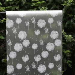 Livro Branco Semitransparent Dandelion Janela PVC Self-Adhesive Filme Sticke de Vidro