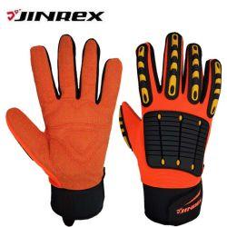 O mecânico Jinrex Synethic Obras de couro luvas de protecção duradoura de segurança
