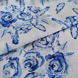 리넨 직물 혼합 리넨에 의하여 길쌈되는 여자 복장 L/V10*10 도매로 디지털에 의하여 인쇄되는 보통 작풍