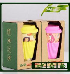 Commerce de gros écologique biodégradable imprimé personnalisé tasse à café de bambou réutilisables