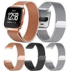 Riem van het Horloge van de Lijn van de Armband van het horloge de Magnetische Milanese voor Band van het Horloge van Fitbit Versa Milanese