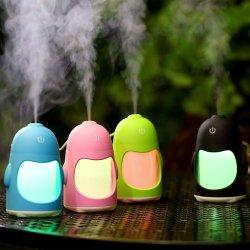 Humidificateur de pingouin Portable Mini USB d'éclairage de nuit de l'humidificateur Purificateur d'air