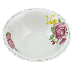 A cor branca de vaporização diferentes tamanhos salada de cerâmica Taça com aro coloridos
