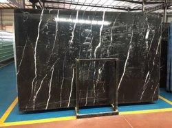La Chine en marbre Noir Marquina de dalles de marbre poli en marbre de gros pour l'étage