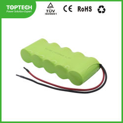 Nachladbares C4000mAh 6.0V Hochtemperatur-Ni-MH-/NiMH industrielle zylinderförmige Batterie