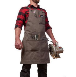 Eco freundliches haltbares Segeltuch-Holz, das BBQ-Garten-Hilfsmittel-Schutzblech-Mann-Arbeits-Schutzblech-Zoll-Firmenzeichen Arbeits ist