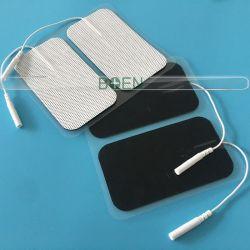 전극 겔 패드 비 우븐 재사용 가능 자체 접착제 50 * 90mm 직사각형 전극 피그테일로 텐을 위한 패드