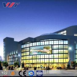 La estructura de acero de construcción del proyecto del Centro Comercial supermercado