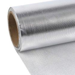Altas temperaturas resistente de alumínio Película de incêndio pano de fibra de vidro