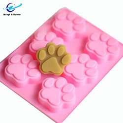 Nahrungsmittelgrad-Hundetatze-Form-Silikon-Backen-Kuchen-Form