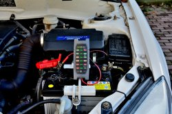 Testador de Bateria Veículo eléctrico 12V