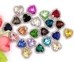 熱い販売新しい愛水晶バックルおよびHand-Stitchedダイヤモンド