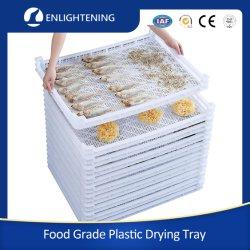 الجملة 600X800X75mm السعر الرخيص HDPE الغذاء الدرجة الزراعية القابلة للتكديس تجفيف صينية بلاستيكية لتجفيف المأكولات البحرية/الفواكه/الخضار/باستا الصابون/الفطر/الأدوية