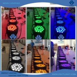 IP65 RGBWA+UV 6in1 18X18W LED par CAN Light مقاوم للمياه
