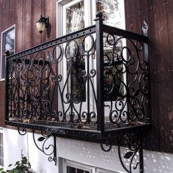 Balcón de hierro modernos diseños barandillas barandillas para escaleras de mano al aire libre
