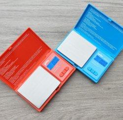 새로운 디자인 디지털 포켓 저울 그램 밸런스 웨이트 미니 전자 쿠키 백우드 스케일 500g/0.01g