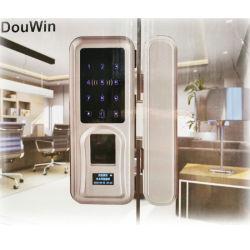 Eléctrica de aluminio correderas biométricos de huellas dactilares de bloqueo de puertas de madera deslizar el gancho de empuñadura de puerta Bloqueo de puerta inteligente