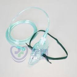 قناع الأكسجين الطبي الذي يمكن التخلص منه للبالغين باستخدام أنابيب