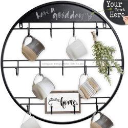 La decoración del hogar colgador de portavasos taza de café negro Rack