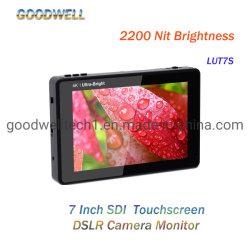 """사진기, SDI, HDMI 입력 & 산출을%s 1920X1200 IPS 위원회 7 """" Touchscreen 모니터"""