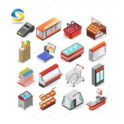 L'équipement d'épicerie de l'épicerie de l'équipement congélateur de supermarchés Les supermarchés de Rack racks d'épicerie supermarché de l'équipement