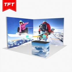 アルミニウムトレードショーの支えがない張力ファブリックLEDによってバックライトを当てられる展覧会のライトボックス