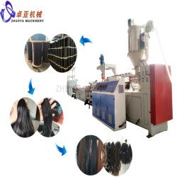 Les monofilaments synthétiques de cheveux humains artificiels de matières premières pour la machine de l'extrudeuse perruques/Fermeture/Braidings