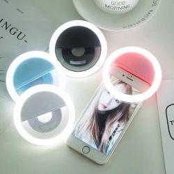 Selfie portatile che modifica la carica la tonalità registrabile del USB di illuminazione della novità della lampada dell'anello di fotographia del telefono della macchina fotografica di luminosità di colori dell'indicatore luminoso 4 dell'anello