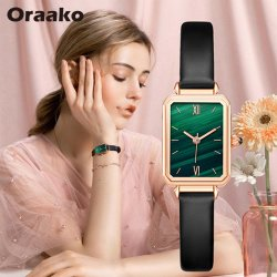 저가 레트로 직사각형 페이스 손목 시계 여성용 패션 쿼츠 Movement Quartz 선물 시계