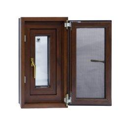 Le bois matériau aluminium à revêtement aluminium Fenêtres à Battants