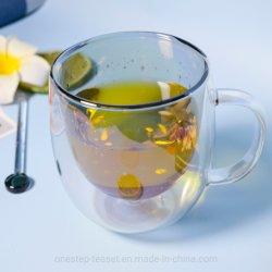 Kop van het Glas van de Laag van de sterrige Hemel schittert de Dubbele de Mok van de Koffie