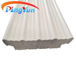 플라스틱 건축 자재 PVC 지붕 타일 콜롬비아의 패션 컬러풀한 창고용 PVC 사다리꼴 웨이브 ASA 골지 UPVC 지붕판 에콰도르에서 인기