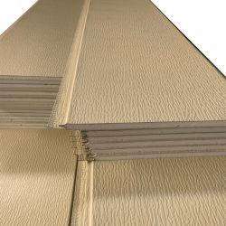 حاوية عازلة للنيران داخل المنزل الخارجي ورقة من الصلب المقاوم للنيران PS/SIP السقف الممزور بنقوش بارزة على الجدران 3D PU Sandwich سعر لوحة الحائط