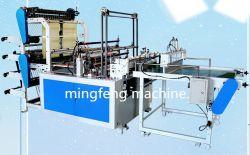 Высокая скорость 4 линий 2 слоя полностью автоматическая горячей и холодной уплотнения режущего нейлоновые PE пластиковые биоразлагаемых футболка магазинов мешок для мусора с плоским экраном Maker цена