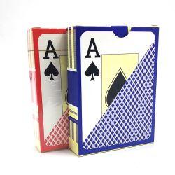 بطاقة البلاستيك رخيصة البوكر 100 % جديدة البلاستيك لعب تخصيص 63*88 مم 57*87 مم بطاقات بوكر