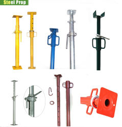 Ponteggi regolabili zincati per impieghi leggeri e pesanti, acciaio per lavori di gomitatura Per costruzioni