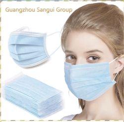 Venda por grosso de protecção exterior de alta qualidade fábrica de descartáveis 3ply Máscara facial Non-Woven descartáveis