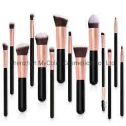 Profissionais personalizados 14PCS Makeup Ajuste da Escova Foundation em pó Escova Eyeshadow