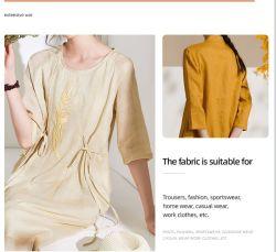 ملابس ناعمة مصنوعة من أقمشة القطن العضوية المصبوغة بالجملة القماش